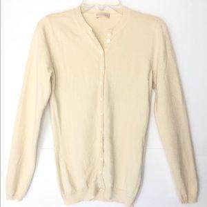 Cruciani 100% Cashmere Button Down Cardigan Sz 38